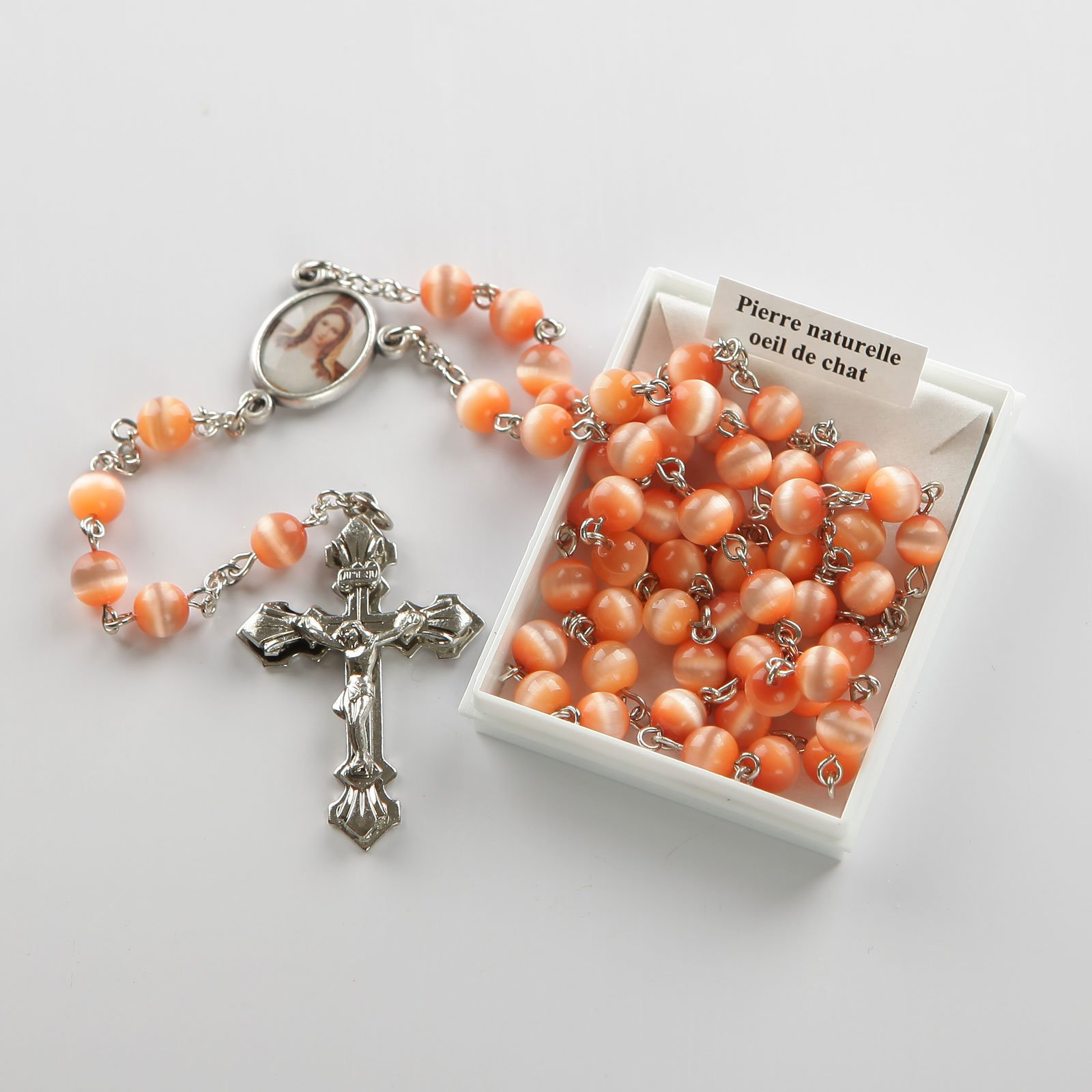 rosary-peach-silver-coloured
