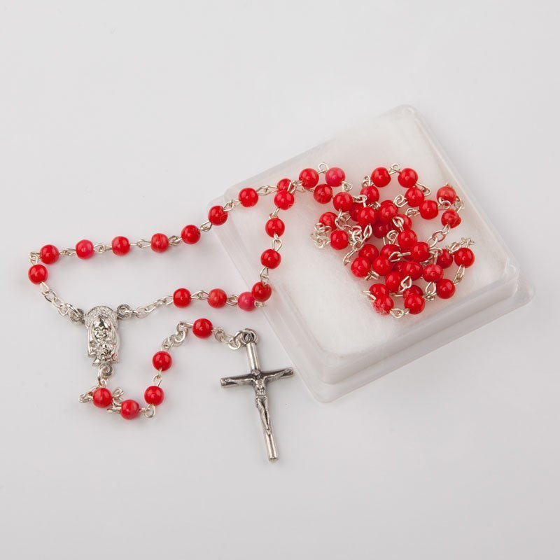 rosary for statue