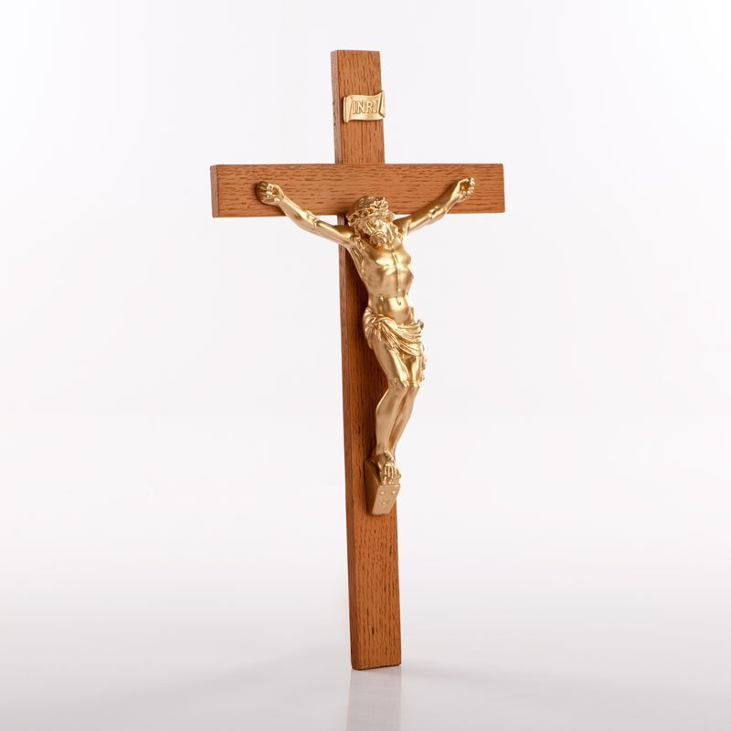 Urethane crucifix gold-coloured