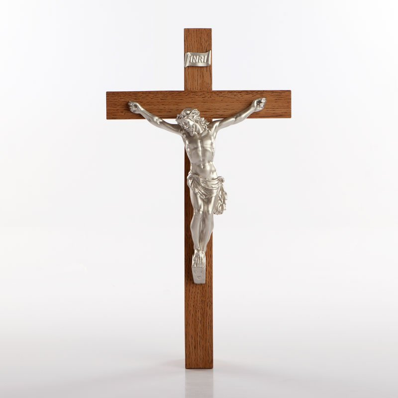 urethane crucifix silver-coloured