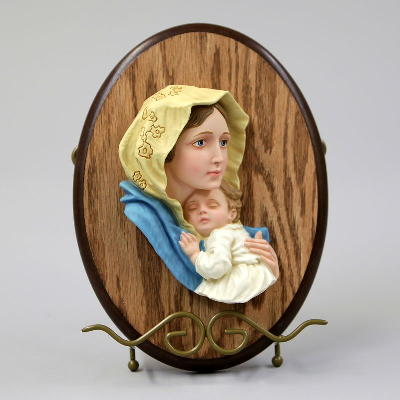 Virgin of the Poor-colour-on wood