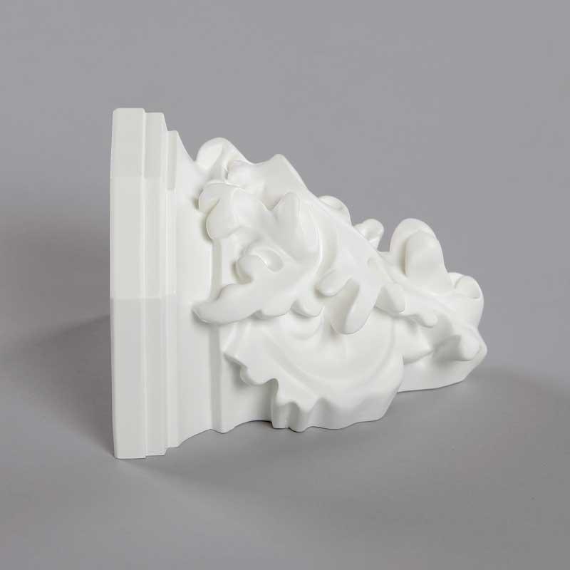 Console feuille alcanthe blanc