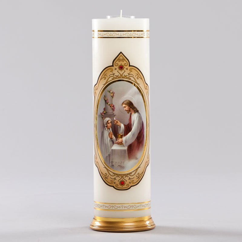 royal candle-first communion girl