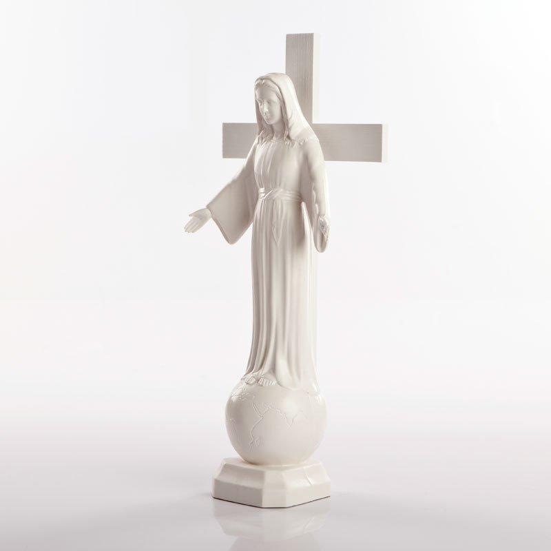 statue dame de tous les peuples pvc blanc-6