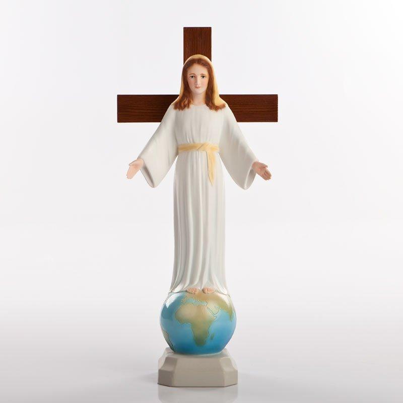 statue dame de tous les peuples pvc couleurs-1a