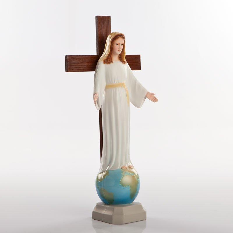 statue dame de tous les peuples pvc couleurs-2a