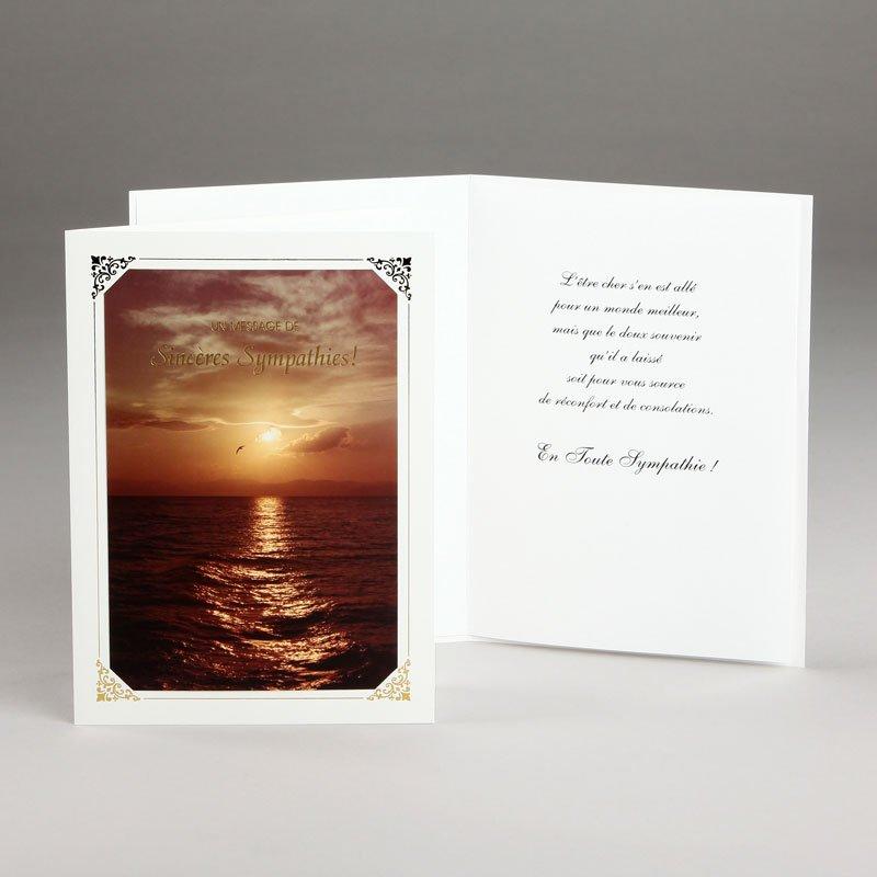 carte sympathies-coucher de soleil sur mer égée