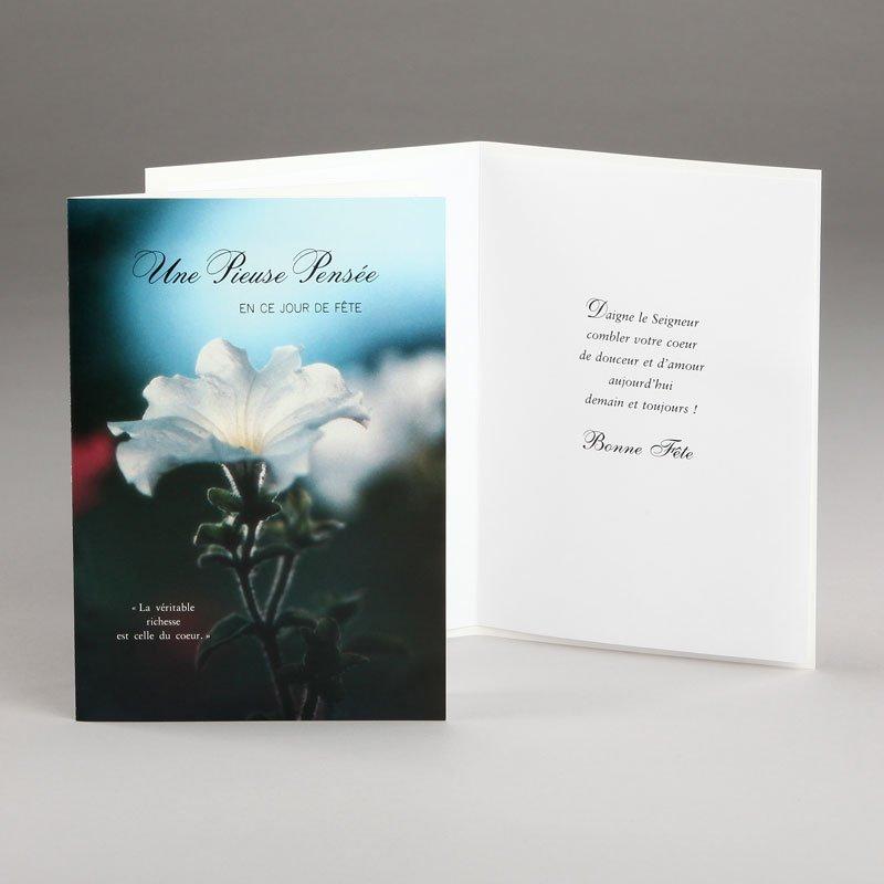 carte anniversaire-pétunia blanc