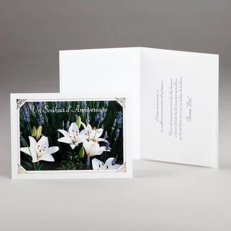 carte anniversaire-fleurs printanières