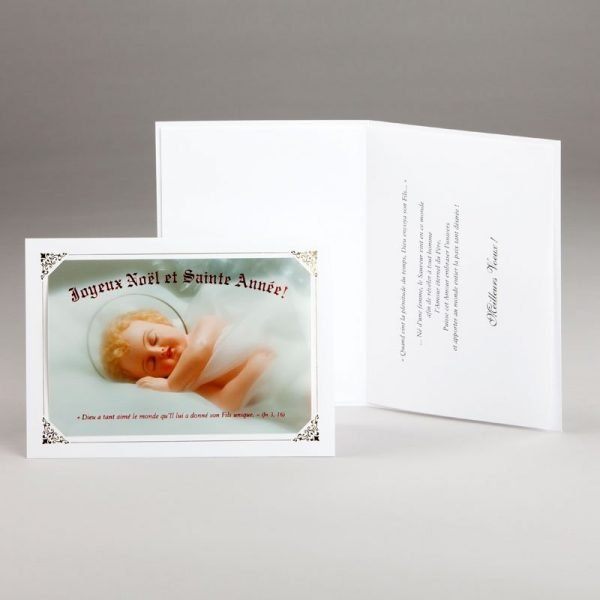 carte de noël-sommeil de l'enfant-jésus