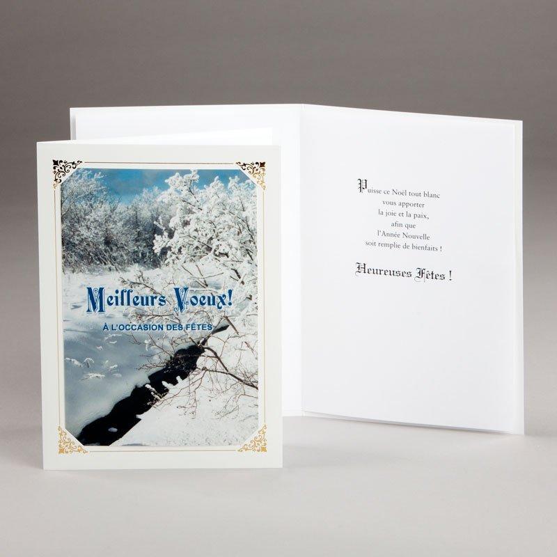 carte de noël-noël blanc