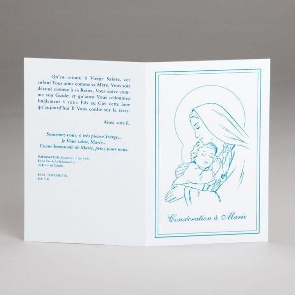 carte baptême-consécration d'un bébé à marie-extérieur