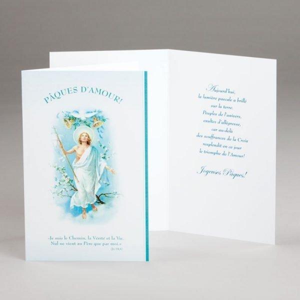 carte de pâques-pâques d'amour