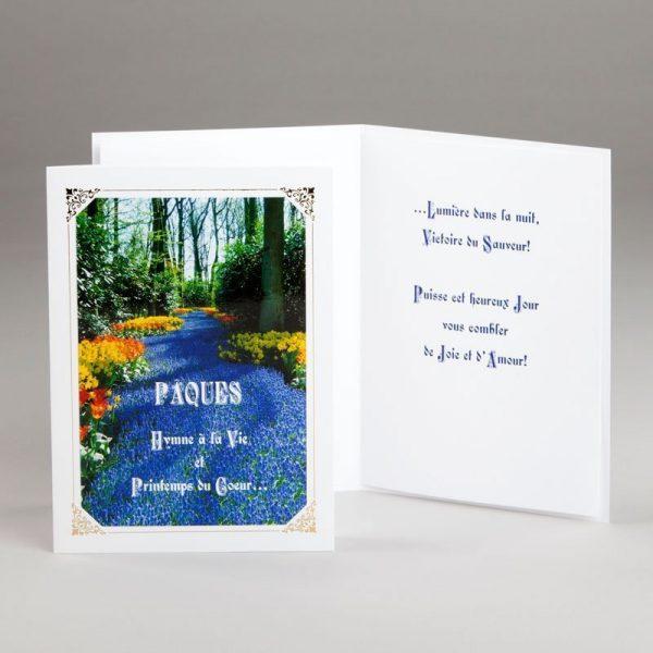 carte de pâques-pâques hymne à la vie