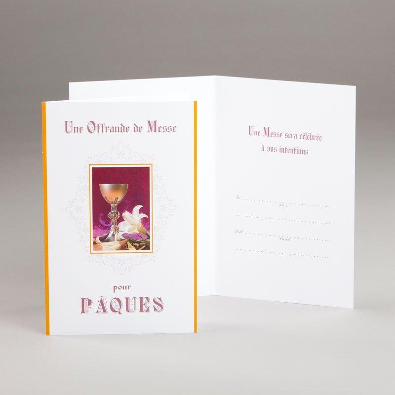 carte de pâques-une offrande de messe pour pâques