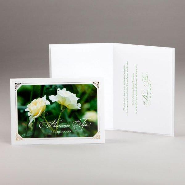 carte fête des mères-tendres roses blanches
