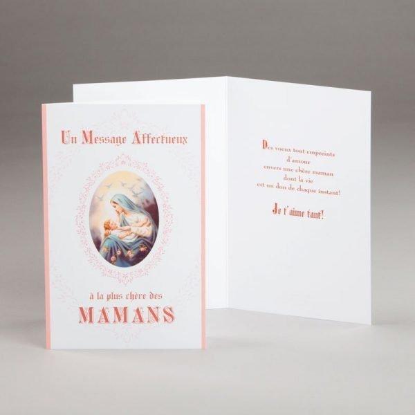 carte fête des mères-un message affectueux