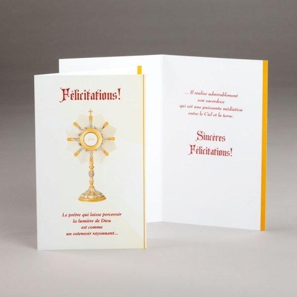 carte ordination-ostensoir rayonnant