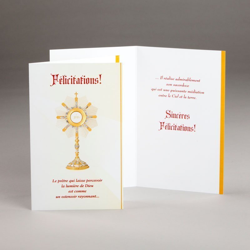 carte ordination-ostensoir rayonnant