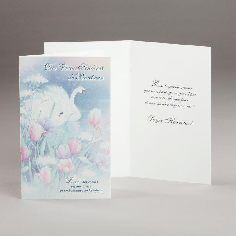 carte fiançailles ou mariage-union des coeurs