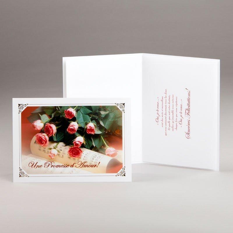 carte fiançailles ou mariage-promesse d'amour