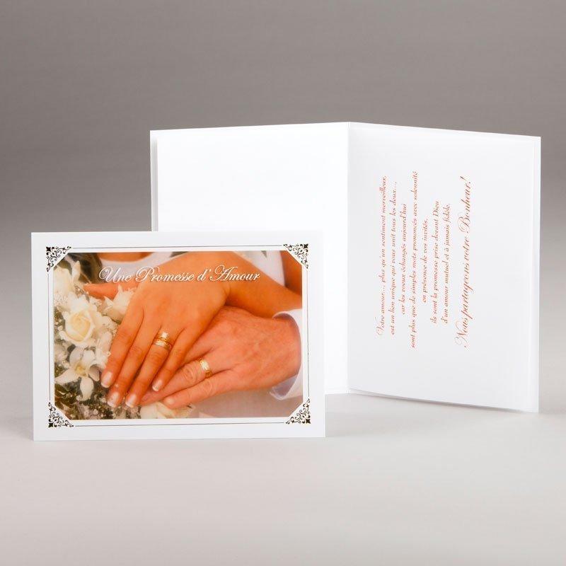 carte fiançailles ou mariage-alliances