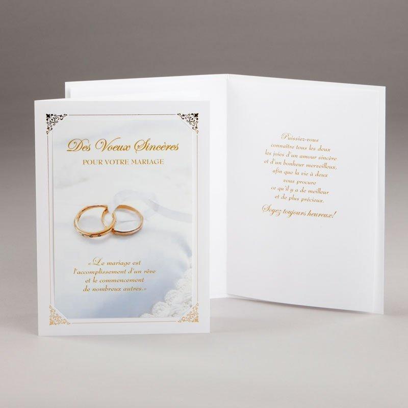 carte fiançailles ou mariage-rêve nuptial