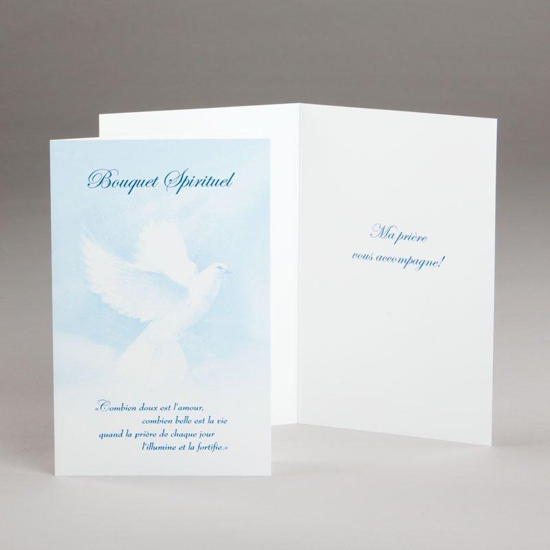 carte bouquet spirituel-colombe