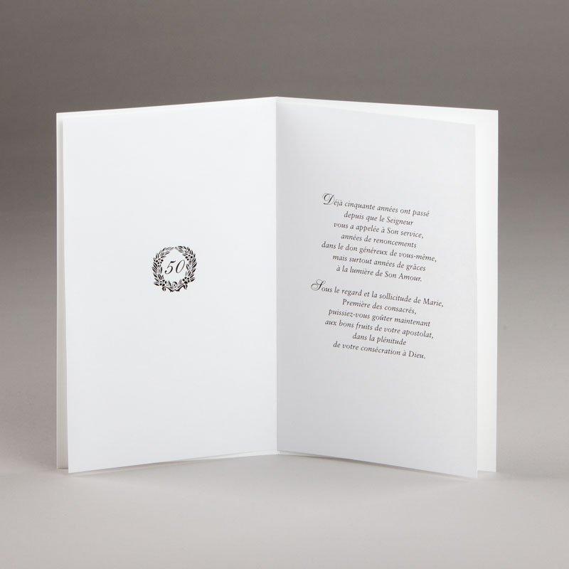 carte jubilé religieuses-50e-intérieur