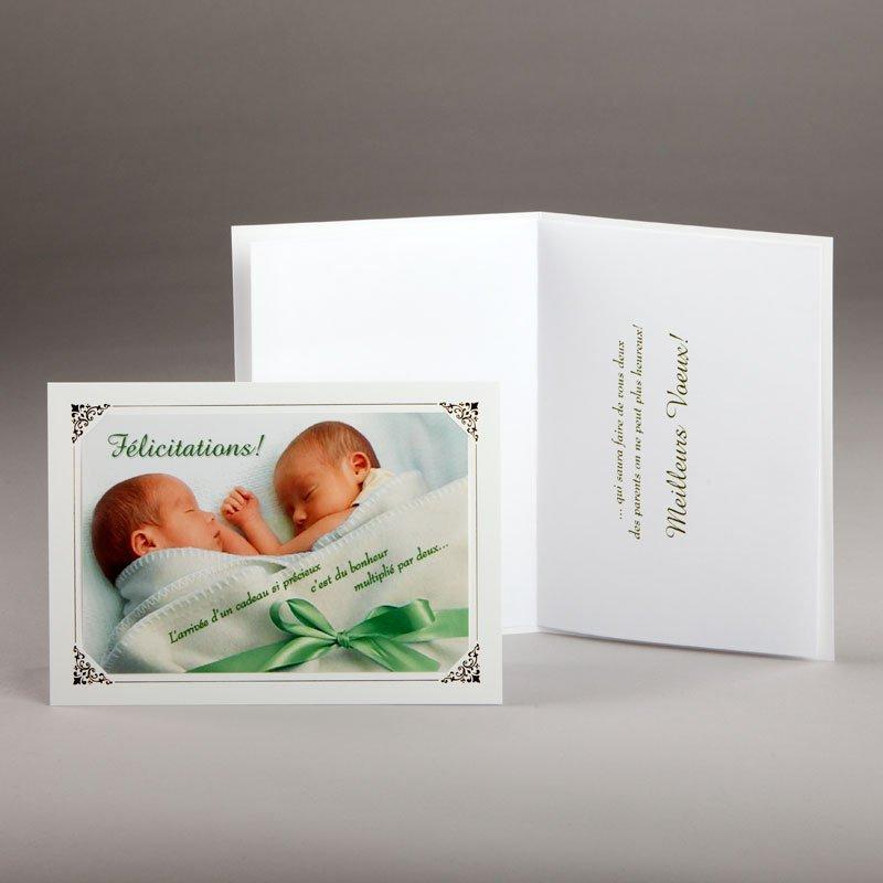 carte naissance-félicitations-pour jumeaux