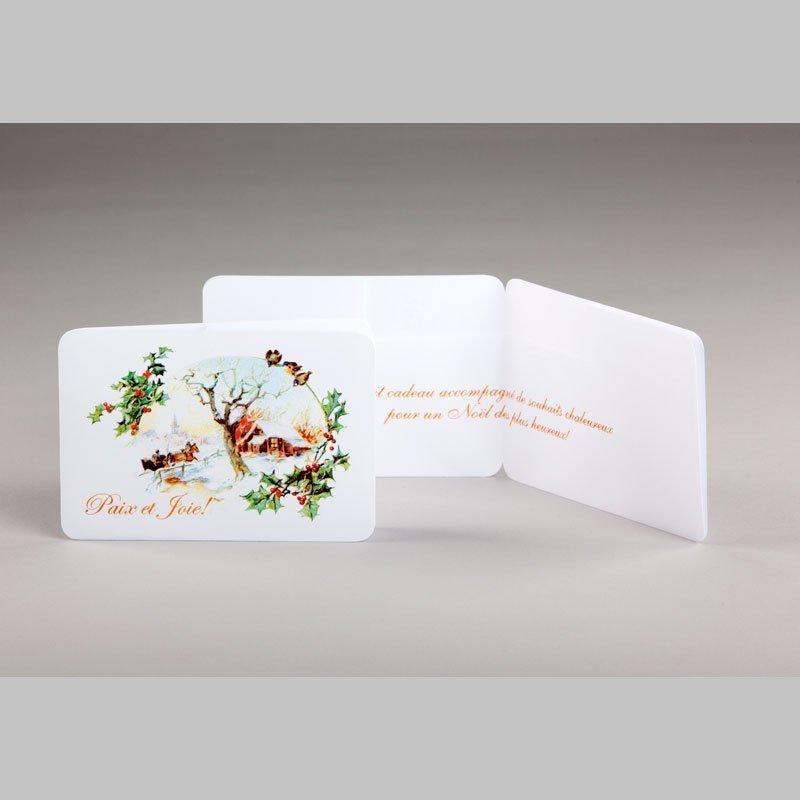 carte cadeau-paysage d'hiver-noël