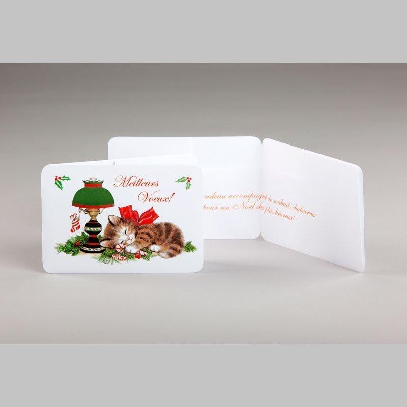 carte cadeau-chaton-noël