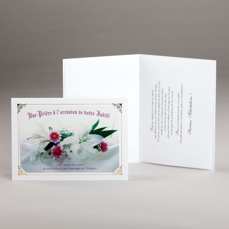 carte jubilé mariage-une prière