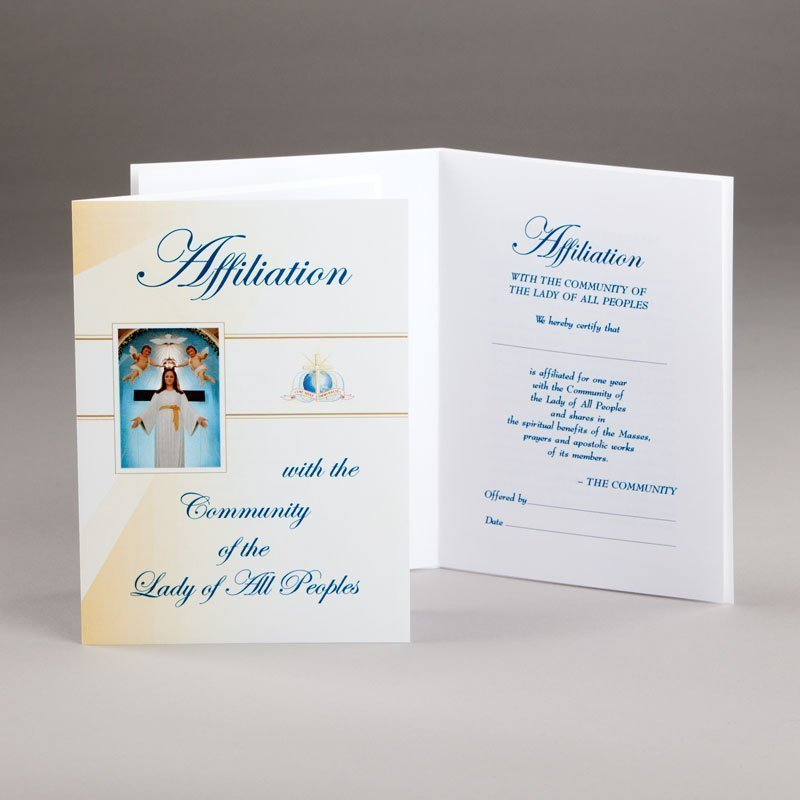 community of the lady affiliation card