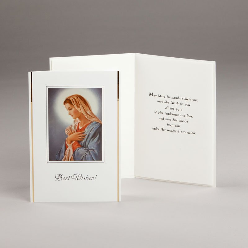 marian card best wishes