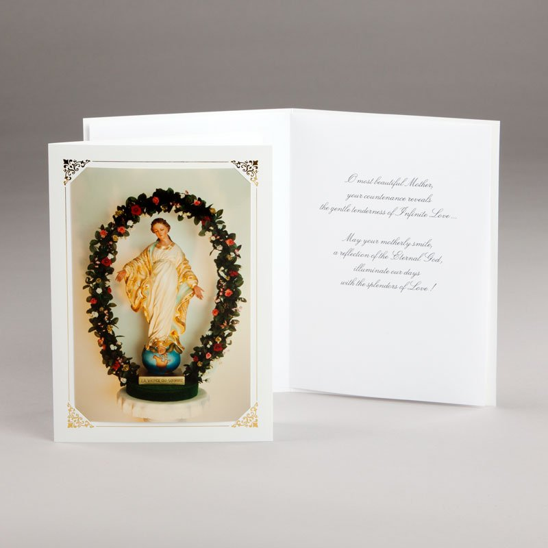 marian card our lady of the smile