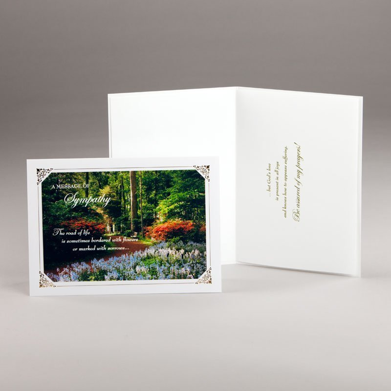 the road of life sympathy card