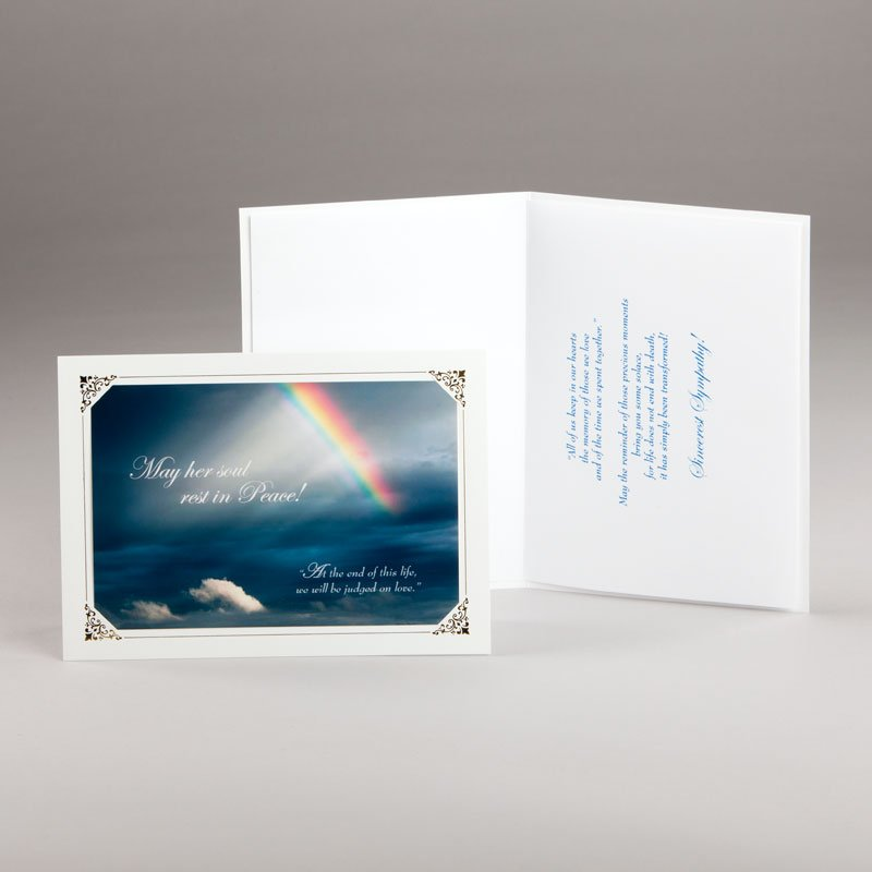 rainbow of light sympathy card - woman