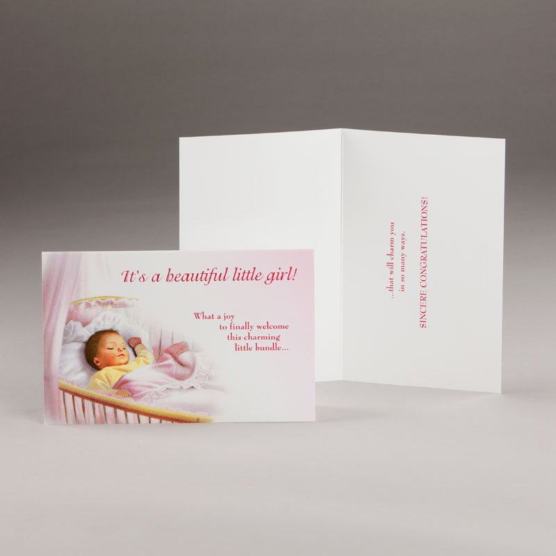 card for a new baby-it's a little girl