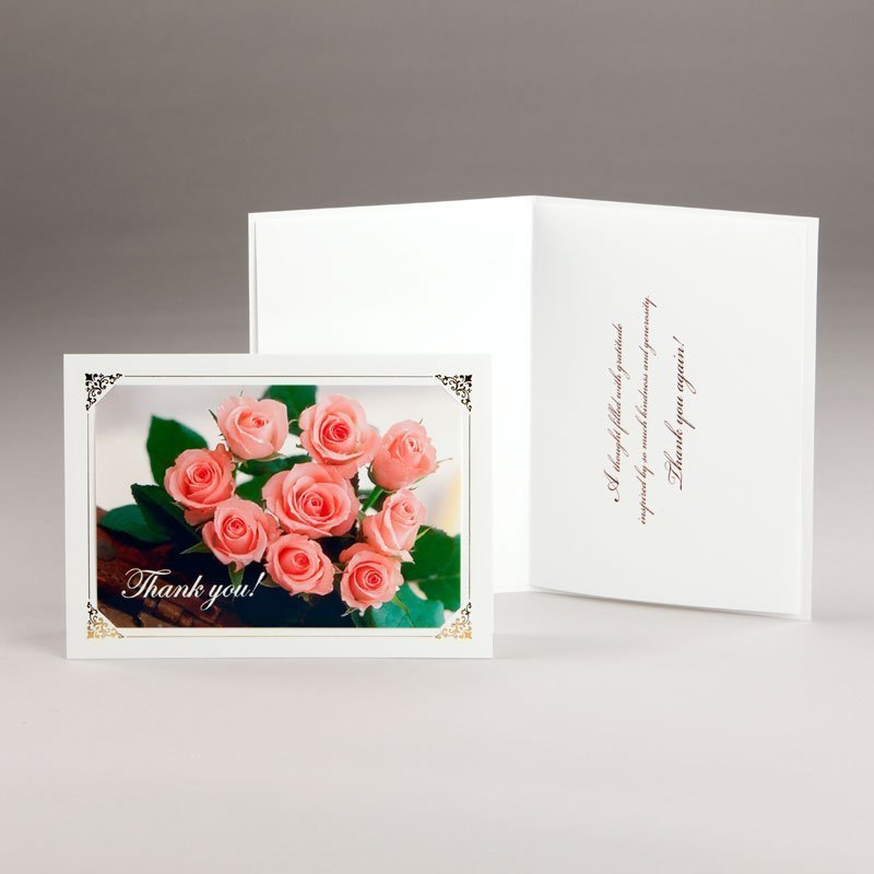 bouquet of roses thank-you card