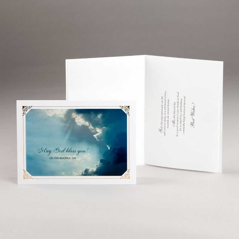 sky with rays all-occasion card