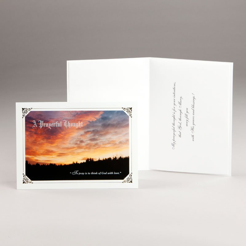 sky ablaze with colour all-occasion card