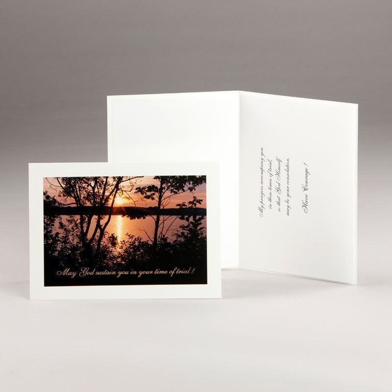 card in times of trial-a sunset