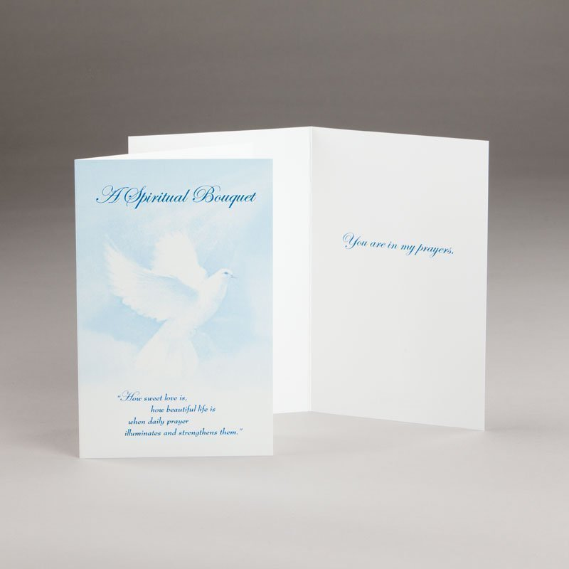 spiritual bouquet card-doves