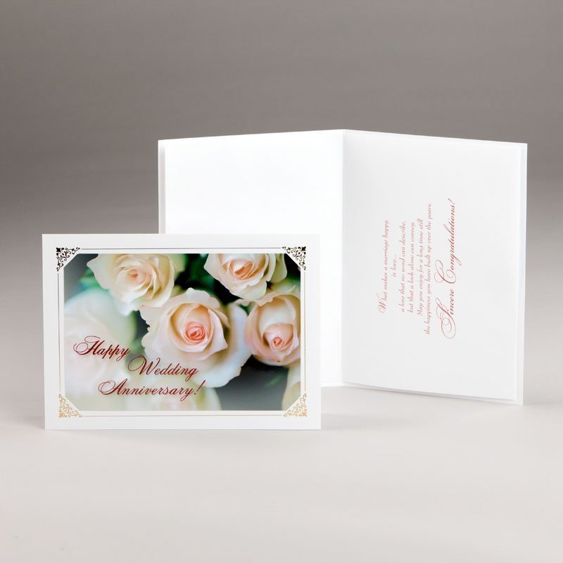 wedding anniversary card-roses