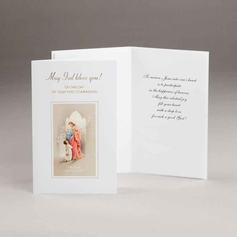 card for holy communion-boys-may god bless you