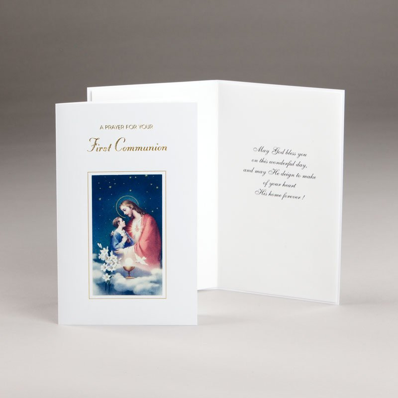 holy communion card-boys-prayer for communion