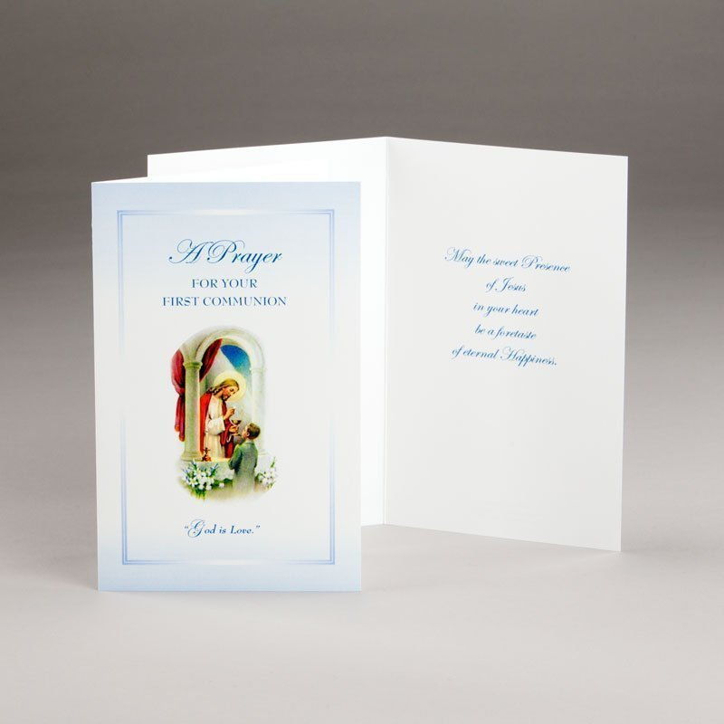 holy communion card-boys-god is love