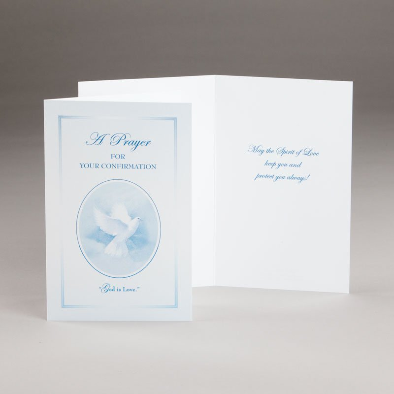 god is love confirmation card