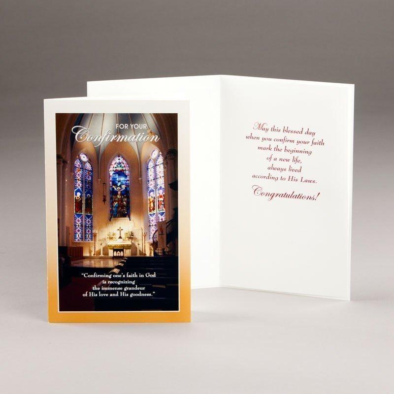 card for confirmation-confirming one's faith